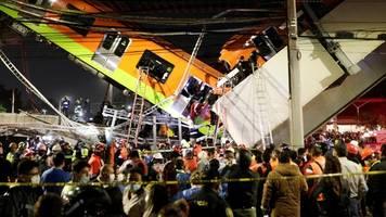 Mexiko-Stadt: Metro-Brücke stürzt ein – Tote und Verletzte bei U-Bahn-Unglück