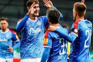 Holstein Kiel nach Sieg über Sandhausen auf Platz drei