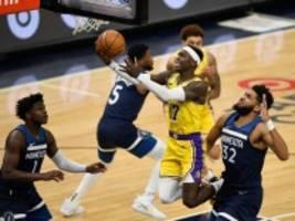 basketball: die chancen der lakers verpuffen zu staub