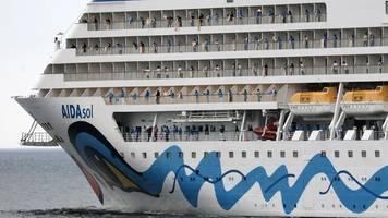 kreuzfahrt: tui cruises und aida starten am pfingstwochenende ab kiel
