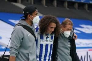 Fußball: Saison für Herthas Guendouzi nach Mittelfußbruch beendet