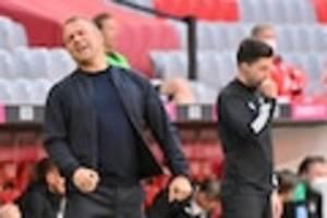 Bei Bayern-Sieg gegen Gladbach - Großer Ärger an der Seitenlinie: Flick soll Eberl den Vogel gezeigt haben