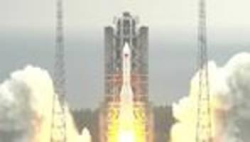 Raumfahrt: Reste chinesischer Rakete stürzen über dem Indischem Ozean ab