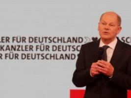 Bundestagswahl: Olaf Scholz will in Gang kommen