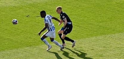 Fußball-Bundesliga: Hertha BSC verpasst gegen Arminia Bielefeld den Heimsieg
