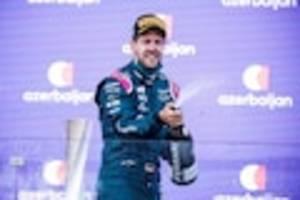 """Formel 1 in Aserbaidschan - Vettel erklärt freudestrahlend, wie er Platz 2 in Baku eroberte: """"Aus Wolke sieben"""""""
