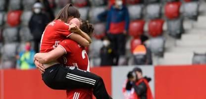 frauenfußball: fc bayern münchen gewinnt meisterschaft - jetzt wollen sie auch oben bleiben