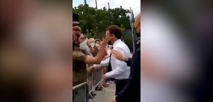 emmanuel macron: frankreichs präsident bekommt ohrfeige