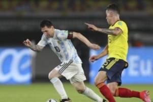 WM-Qualifikation: Argentinien und Kolumbien spielen unentschieden