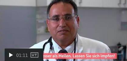 Regierung stoppt Impf-Werbevideo – Arzt steht offenbar Hamas nahe