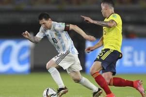 Argentinien und Kolumbien spielen unentschieden