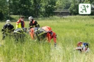 Bezirk Harburg: Motorradfahrer wird aus Kurve geschleudert – schwer verletzt