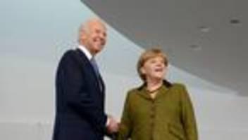 USA: Präsident Biden empfängt Merkel Mitte Juli
