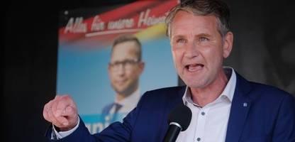 Sachsen-Anhalt: Björn Höcke wegen SA-Spruch angezeigt
