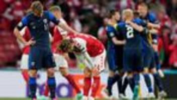 Fußball-EM: Dänemark verliert nach Drama um Christian Eriksen gegen Finnland