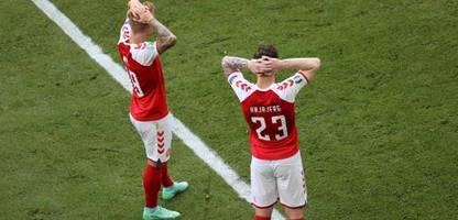 Fußball-EM 2021: Christian Eriksen zusammengebrochen – Spiel zwischen Dänemark und Finnland unterbrochen