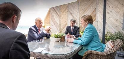 """Bei Nord Stream 2 """"auf gutem Weg"""" – So verlief Merkels erstes Treffen mit Biden"""