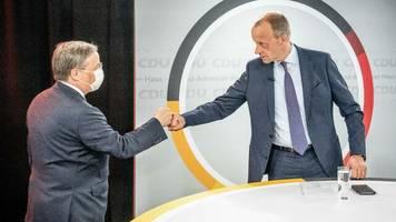 Union: Laschet und Merz werben gemeinsam für Innovationen nach Corona-Krise