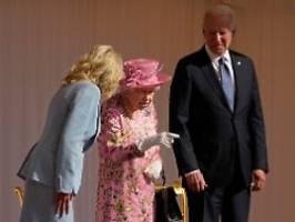 biden mit gattin zum tee: queen empfängt ihren 13. us-präsidenten