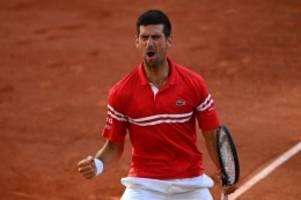tennis: djokovic dreht french-open-finale: 19. grand-slam-titel