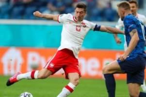 Fußball-EM: Fehlstart für Lewandowski: Polen verliert gegen die Slowakei