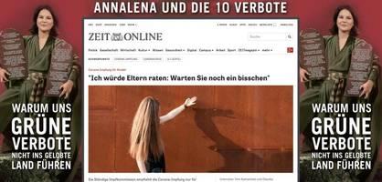"""""""Annalena und die 10 Verbote"""" – Anzeige gegen Baerbock erzürnt die Grünen"""