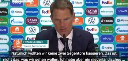 Trainer De Boer nach Niederlande-Sieg mit Lob und Tadel