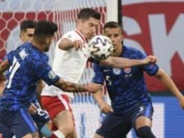 Polen bei der Fußball-EM: Lewandowski wird ausgebremst
