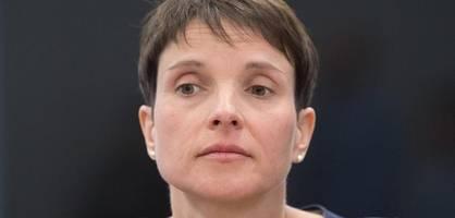 Frauke Petry erhebt Korruptionsvorwürfe gegen AfD-Spitzenpersonal