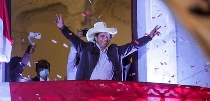 peru: linkskandidat pedro castillo erklärt sich zum sieger der präsidentschaftswahl