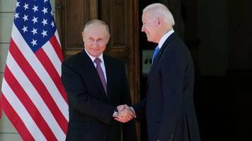USA - Russland - Historischer Handschlag: Biden und Putin beginnen Gipfel