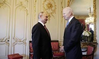 Putin und Biden: Kühler Handshake am Genfer See
