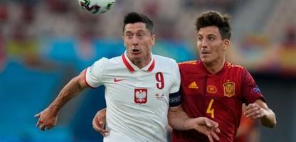 fußball-em 2021: robert lewandowski hält polen gegen spanien im turnier