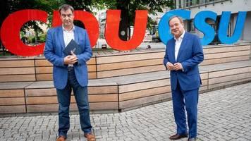 Wahlprogramm der Union - Klausur in Berlin: Laschet und Söder gegen Steuererhöhungen