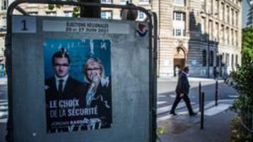 Erste Runde der Regionalwahlen in Frankreich: Schwaches Ergebnis für Le-Pen-Partei