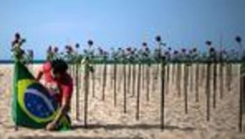 Corona-Pandemie: Brasilien zählt mehr als 500.000 Corona-Tote