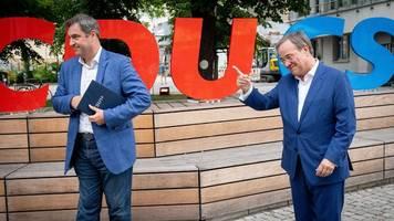 Bundestagswahl: Laschet und Söder stellen gemeinsames Wahlprogramm vor