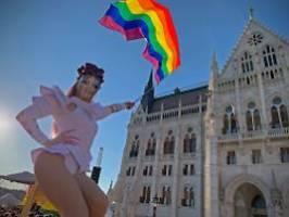 Verbot von Medien und Werbung: Ungarn rechtfertigt Anti-LGBTIQ-Gesetz