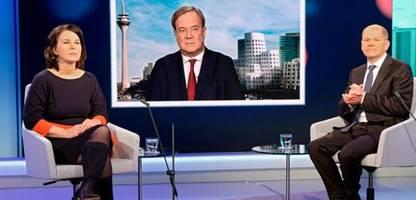 Umfrage zu Annalena Baerbock, Armin Laschet und Olaf Scholz: Die Qualitäten der Kanzlerkandidaten