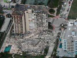 Hochhaus bei Miami eingestürzt: Behörden vermissen noch 51 Bewohner