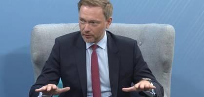 FDP-Chef Christian Lindner im Gespräch mit Thomas Exner