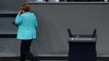 Merkel im Bundestag: Zwischen Abschied und Schaulaufen