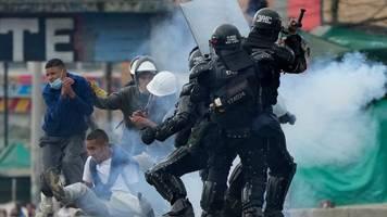 anti-regierungsproteste: schwere zusammenstöße in kolumbien