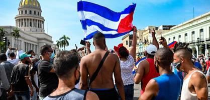 """""""nieder mit der diktatur"""" - diesmal protestieren zu viele kubaner gegen das regime"""