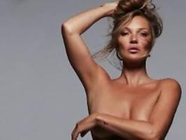 oben ohne für kim kardashian: kate moss hat das modeln nicht verlernt
