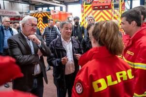 katastrophen-wahlkampf: laschet und steinmeier in erftstadt
