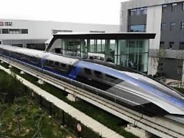 Magnetschwebebahn in China: Schnellster Zug der Welt ist fertiggestellt