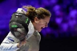 Trotz Corona-Einschränkungen: Fechterin Ebert genießt Stimmung im olympische Dorf