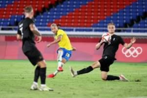 Fußball bei Olympia: Nach 0:3 zur Pause: DFB-Team verliert 2:4 gegen Brasilien