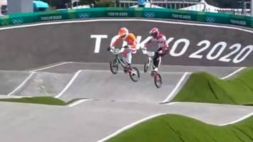 Olympia 2021: Übler Crash des Niederländers Kimmann im BMX-Training